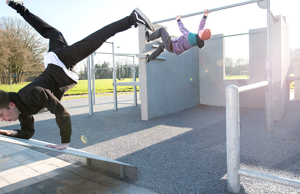 A new parkour in Gütersloh