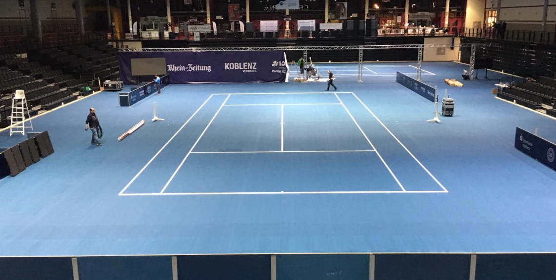Laykold as official floor covering at the Koblenz Open