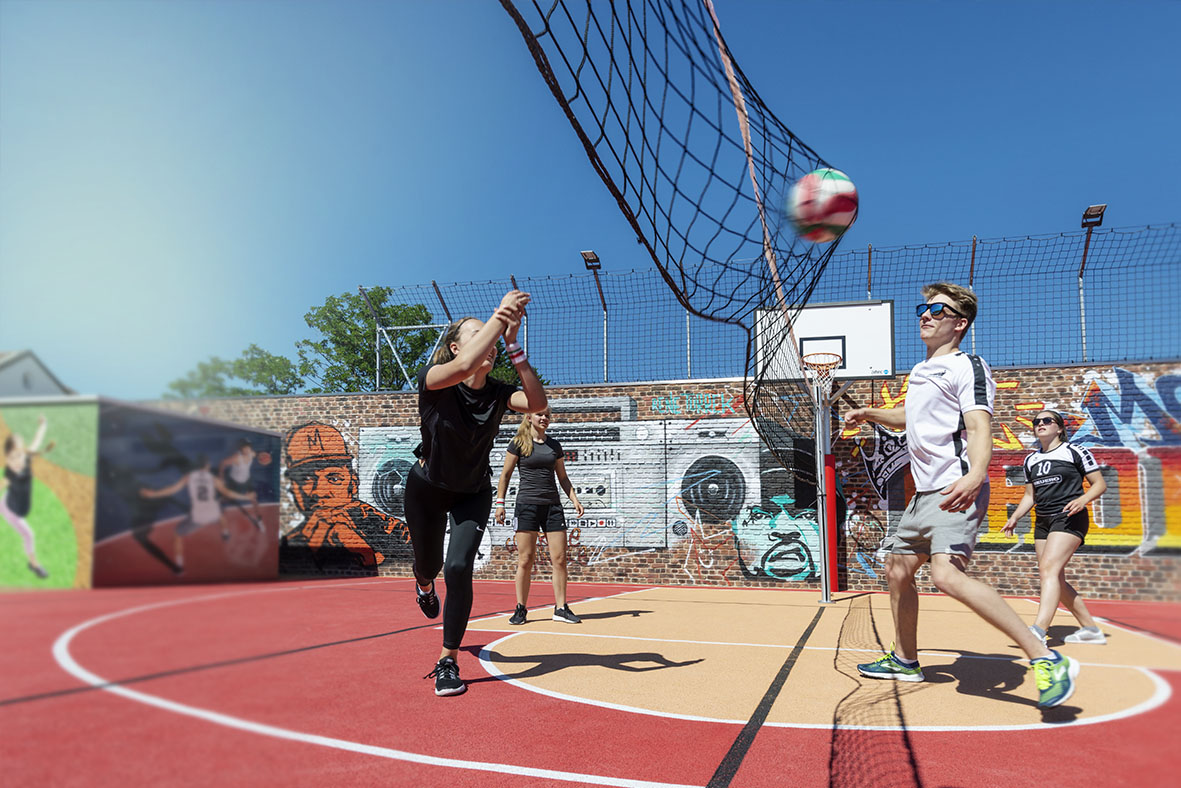Multi-purpose playing fields: brilliant, versatile pitches are fun for everyone - volleyball